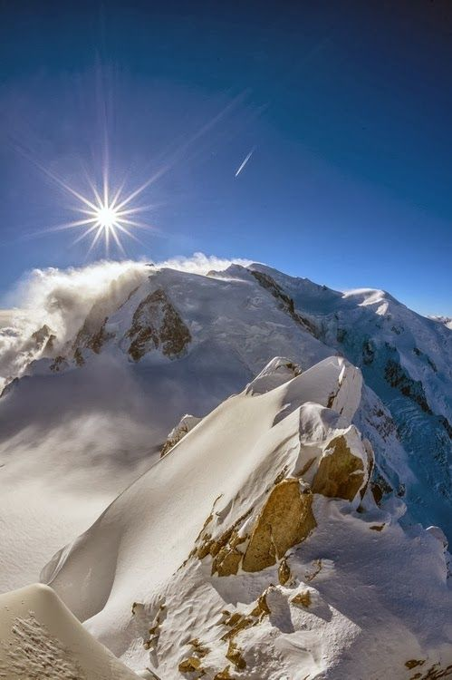 Mont Blanc is located between the regions of Haute-Savoie, France and Aosta Valley, Italy, & is the highest mountain in the Alps, rising to an altitude of 4,810.45 metres (15,782 feet). --11 Majestic Places That You're Gonna Love It