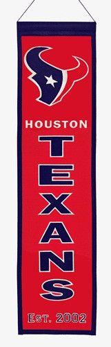 Houston Texans NFL Winning Streak Vertical Banner (8 x 32)