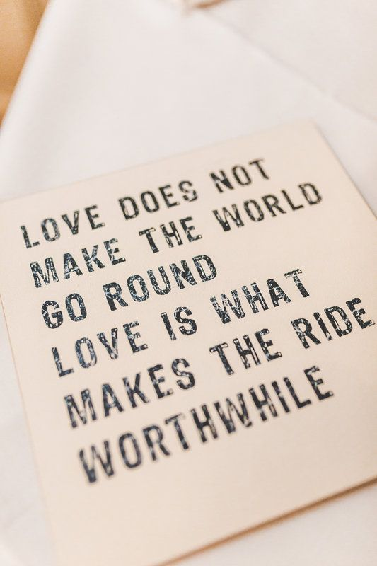 Love does not make the world go round. Love wedding quote plaque by www.samandlouise.co.uk