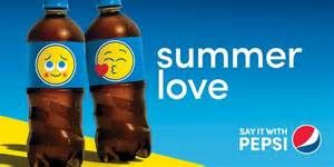 pepsi emoji bottles loving summer
