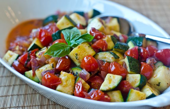 Sautéed Zucchini and Cherry Tomatoes - Once Upon a Chef