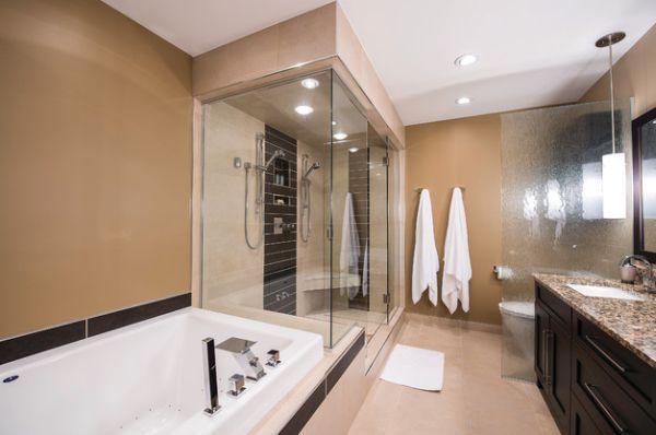 l gant douche vapeur personnalis dans la salle de. Black Bedroom Furniture Sets. Home Design Ideas