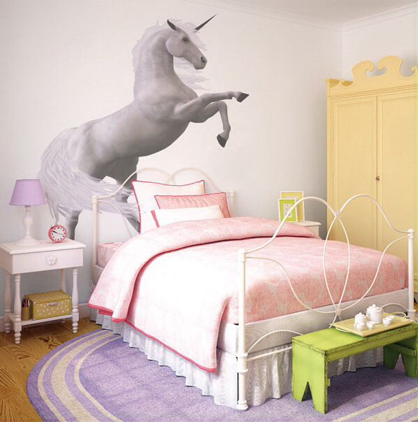 130 best images about cool rooms on pinterest indoor tree house beach theme bedrooms and for Unicorn bedroom theme