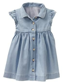 Denim shirtdress | Gap  Adorable for an outdoor shoot with some classic cowboy boots