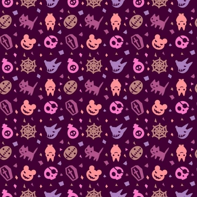 Cute Halloween Pattern Background With Purple Color Cute Purple Halloween Png And Vector With Transparent Background For Free Download Background Patterns Gothic Pattern Cute Halloween