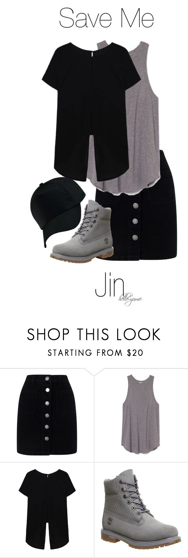 """Save Me - Jin"" by hello-yume ❤ liked on Polyvore featuring Miss Selfridge, Timberland and bts"
