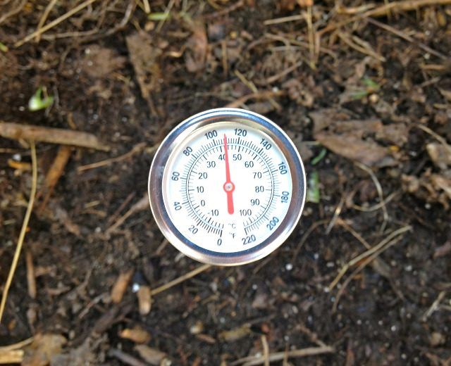 You can also check your compost temperature with a compost thermometer. Here is more on it.