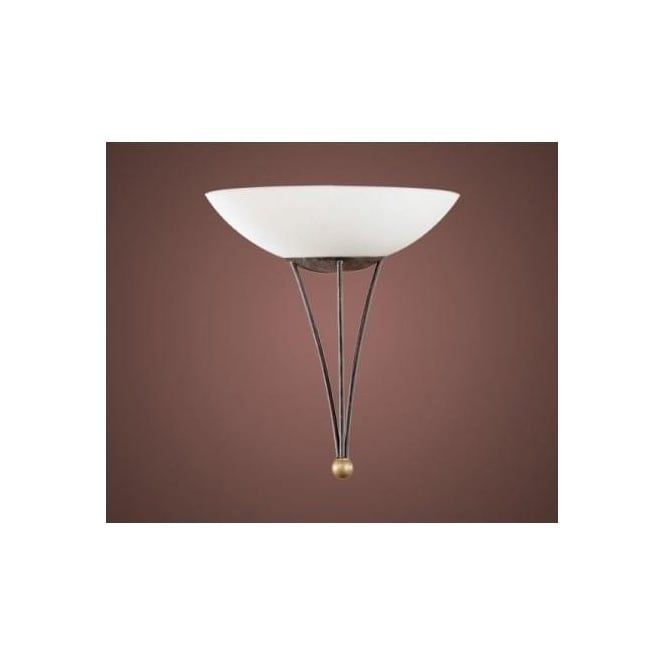 Eglo 86714 Mestre 1 light traditional wall light antique brown and gold finish - Wall Lights from Ocean Lighting UK