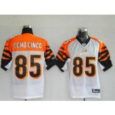 Bengals #85 Chad Ochocinco White Stitched NFL Jersey