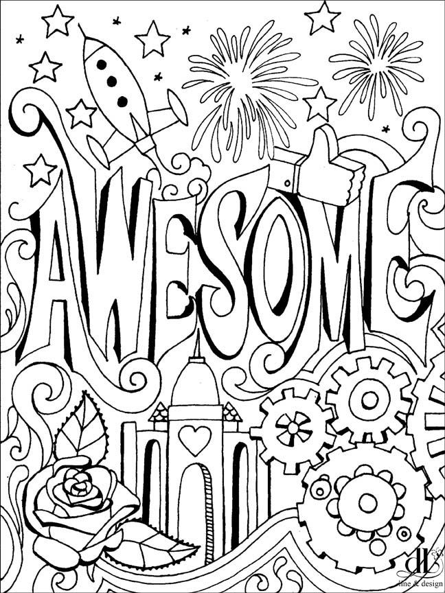 Awesome Coloring Page For You To Color Enjoy Coloring Pages