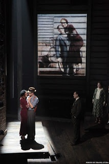 I love how they remade the exact same outfits for the new musical that the real Bonnie and Clyde are wearing in the old black and white pictures of them