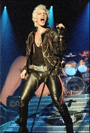Billy Idol. Billy 'Bunter' toured to my home town in 1987 and he gave a rockin good show!