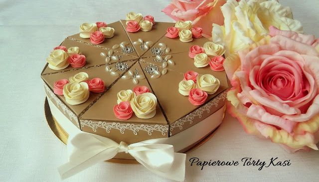 Papierowy tort na ślub, paper cake for wedding gift