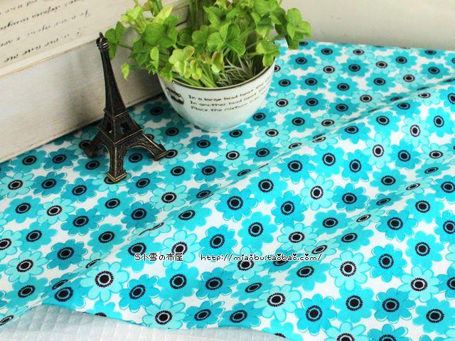 DIY лоскутное ручной гладкая хлопчатобумажная ткань одной сделке красоты голубые цветы 8 юаней полметра воды - Taobao Много американской ткани