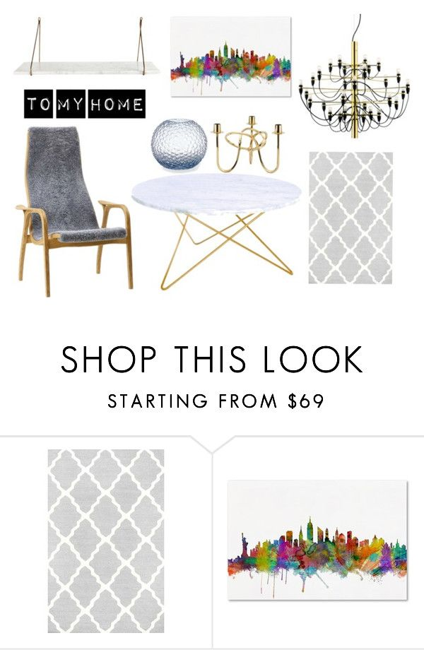 """""""To my home"""" by majahellstrom on Polyvore featuring interior, interiors, interior design, home, home decor, interior decorating, Trademark Fine Art, Flos and House Doctor"""