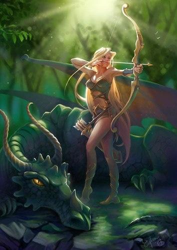 Elfe ♀ - Archère