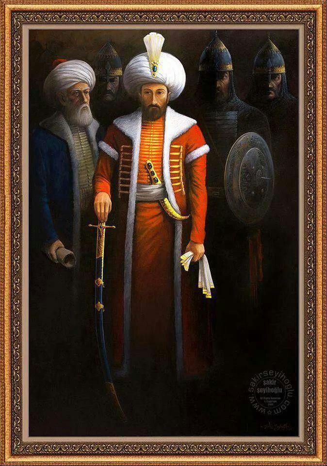 """Fatih sultan mehmet. HADİS :Letüftehanne'l Kostantıniyyete, ve le ni'mel emrü zâlike'l emr, ve le ni'mel ceyşü zâlike'l ceyş"""" Yani: """"Kostantiniye, bir gün fetholunacaktır. Onu fetheden asker ne güzel asker, onu fetheden komutan ne güzel komutandır.""""Hz. Muhammed S. A. V."""