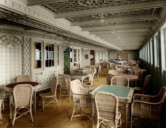 Café Parisien. La lussuosa prima classe del Titanic