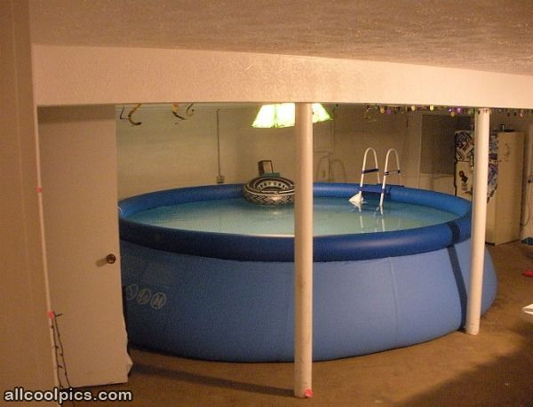 Indoor Pool..affordable Haha. Above Ground ...