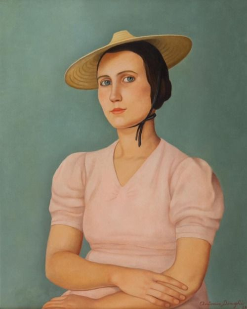 "kundst: "" Antinio Donghi (It. 1897-1963) Elisa (Portrait of miss Luisa)…"