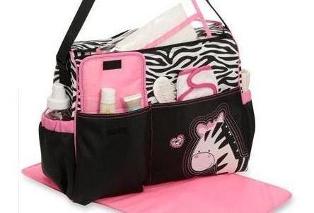 Pink Zebra print Diaper Bag / Animal print Diaper Bag ...