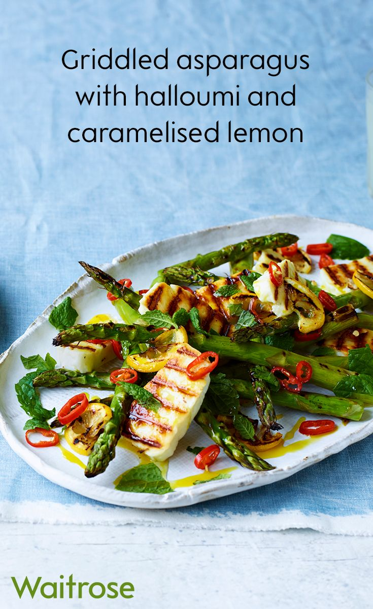 Try griddled asparagus with halloumi and caramelised lemon for a delicious summer salad with a twist. Find this recipe and more on the Waitrose website.