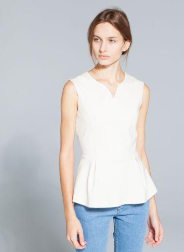 Sold Out Uterque Zara Company Peplum Top Size s New Season 2014 | eBay