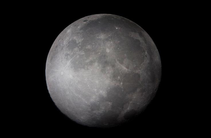 The Moon - Taken through friends Telescope - October 2011 - Lewis Ryan Photographer