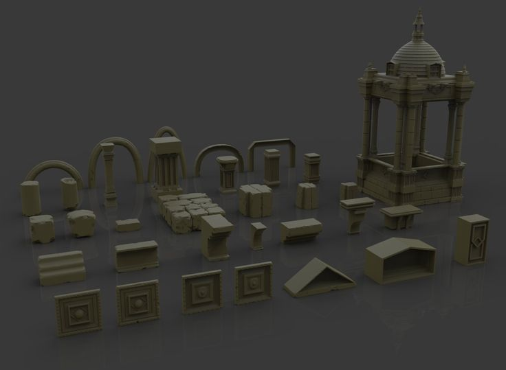Architecture imm brush and ztools ste flack on artstation for Architecture games online free