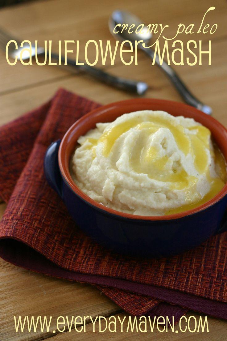 Creamy Paleo Mashed Cauliflower Recipe  4 Weight Watchers Points Plus Per Serving -- Serves 4