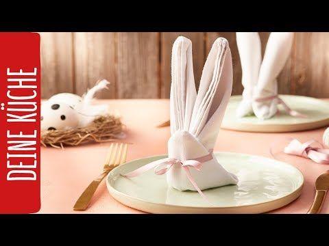 Ostern DIY | Hasen-Servietten falten | REWE Deine Küche - YouTube ...