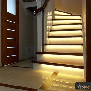 Nowoczesne i energooszczędne oświetlenie LED schodów na wymiar