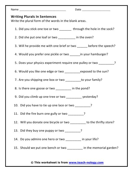 ... worksheet for students to practice making nouns that with y plural see