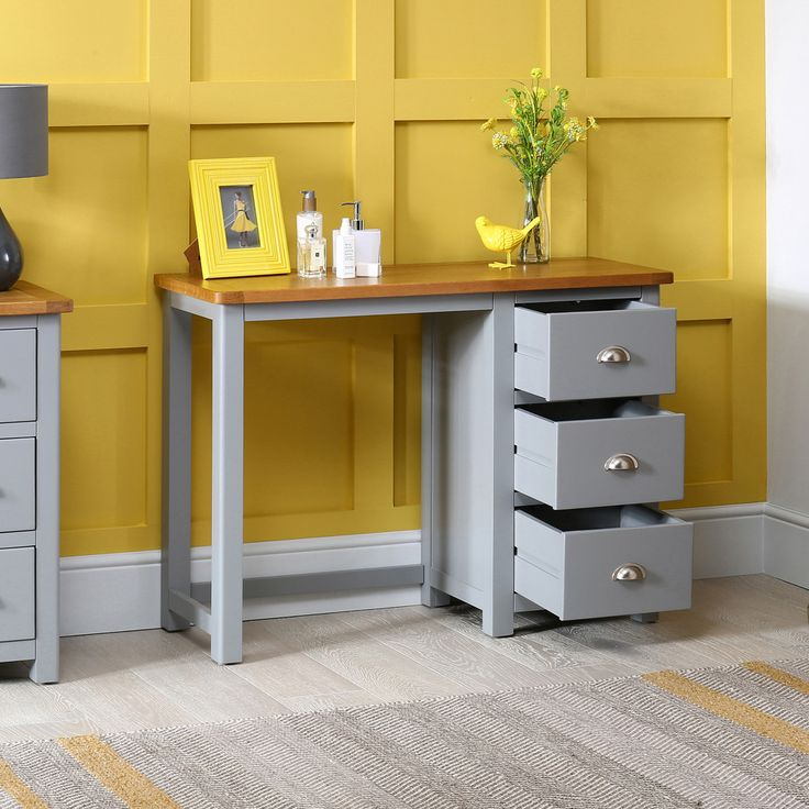 Manor Grey Painted 3 Drawer Dressing Table