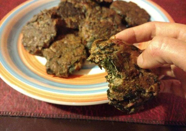 Croquetas / torrejas / bocaditos de hojas de remolacha y quinoa