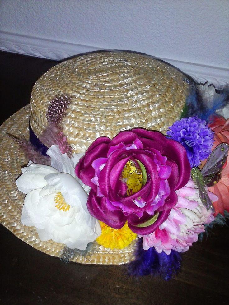 sombreros decorados con flores - Buscar con Google