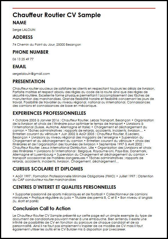 Epingle Sur Cv