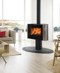 Something a little bit different from Scan, the 57 is a unique piece of furniture. It features a revolving base to make sure you see the best of the flames wherever you are siting in the room. Useful 7 kW output.