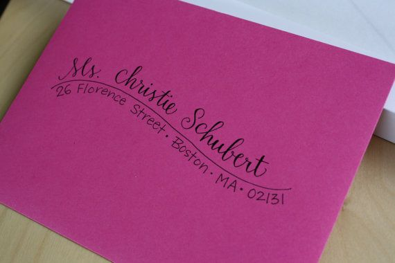 Custom Calligraphy Whimsical Addressed Envelopes by inkybug