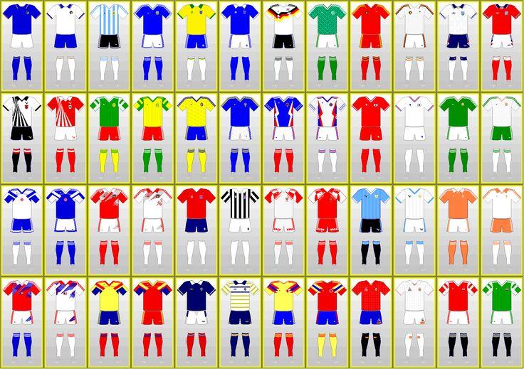 Uniformi Campionato mondiale di calcio: ITALIA 1990