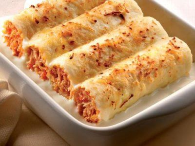 Receta de Canelones de Atún con Salsa Bechamel