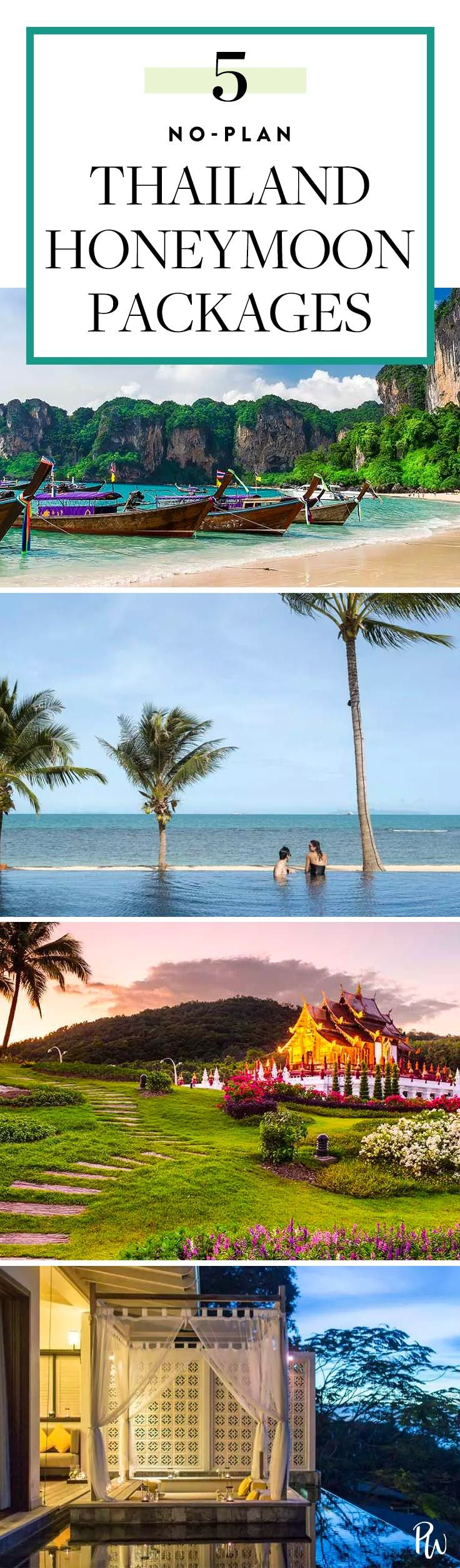 5 Thailand Honeymoon Packages for Couples Who Don't Want to Plan a Thing via @PureWow