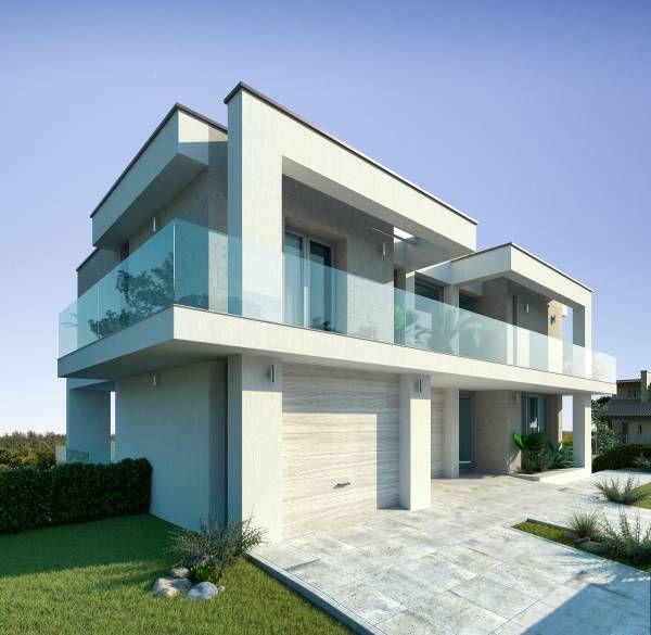 Progetto villa moderna con piscina lotto 10   House styles ...