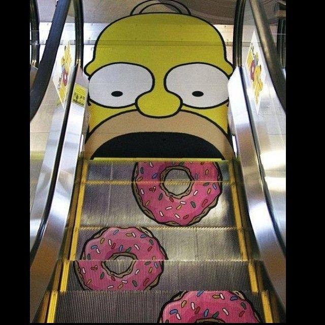 Homer Doughnut Escalator