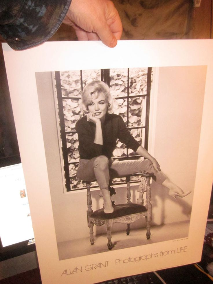Vintage FineArt LITHOGRAPH: MARILYN MONROE LAST DAYS Alan Grant Photos From LIFE: