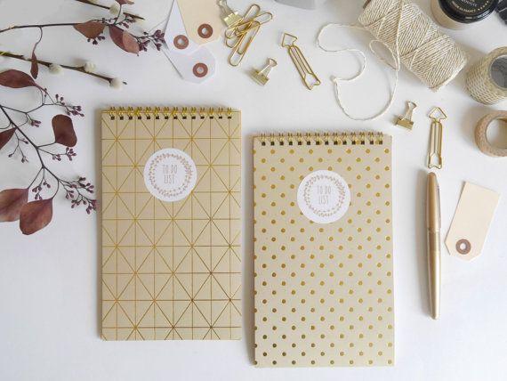 To do List notebook organizer gold spot graphic by BrindeCrea