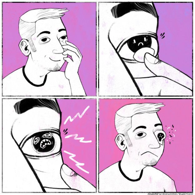 Dry eyes.