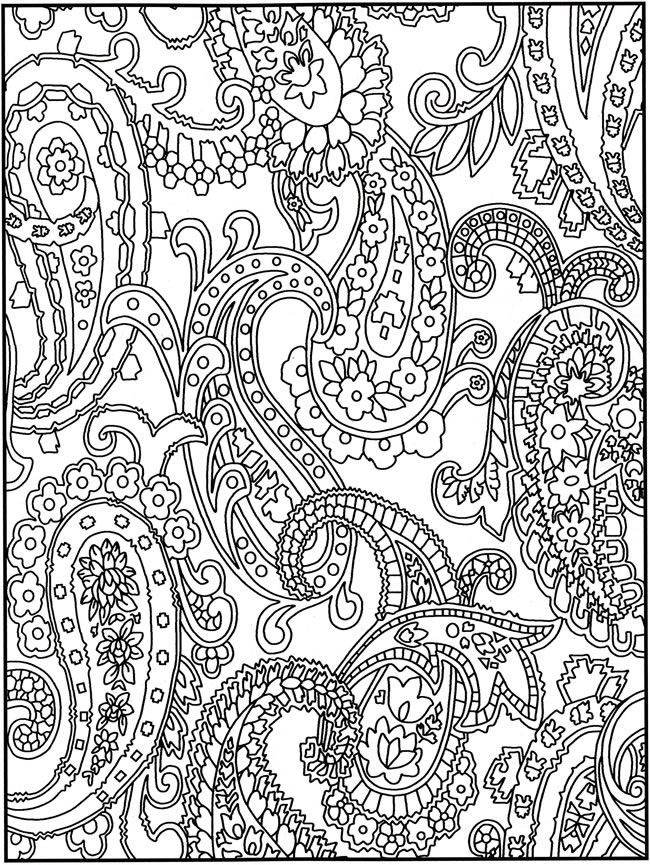"From ""Creative Haven Crazy Paisley Coloring Book"" by  Dover Publications   . . . .   ღTrish W ~ http://www.pinterest.com/trishw/  . . . .  #doodle"