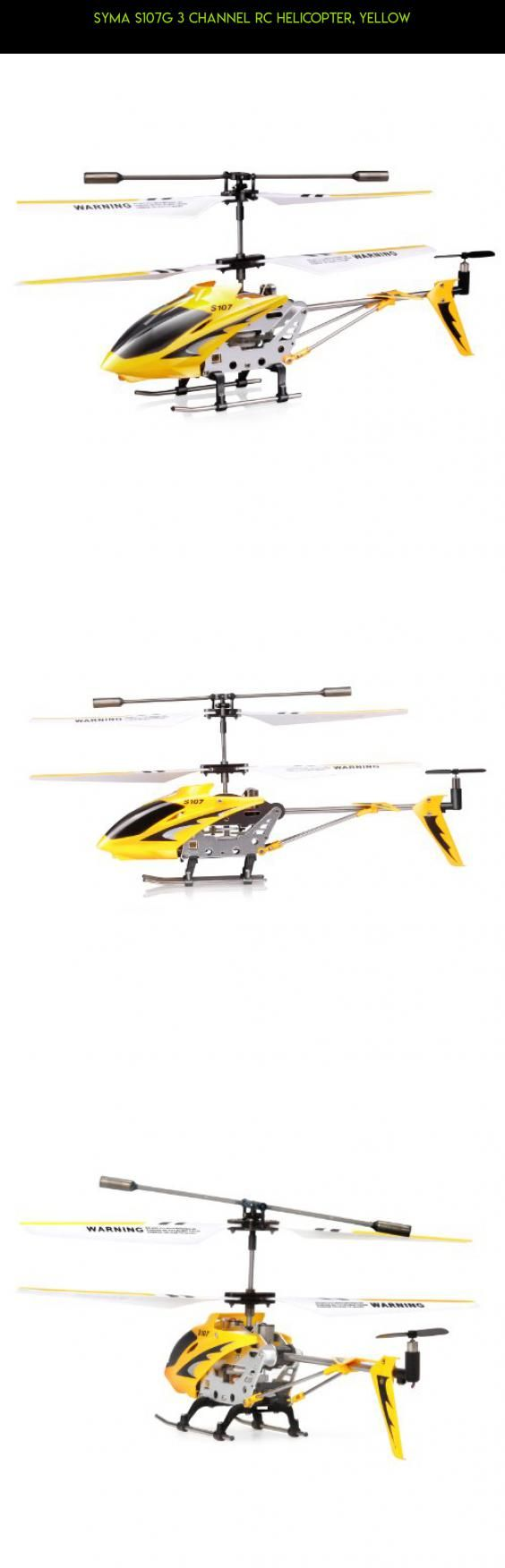 Syma S107G 3 Channel RC Helicopter, Yellow #parts #shopping #gadgets #products #plans #kit #107 #technology #tech #racing #drone #syma #camera #fpv
