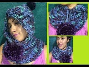 Cuello con Gorrito Ideal para principiantes a Crochet  7d06a8023f4
